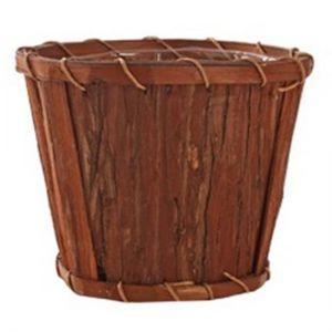 Pine bark pot.