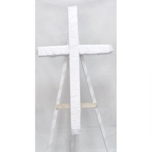 Styrofoam cross.