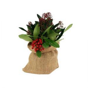 Burlap flower bag
