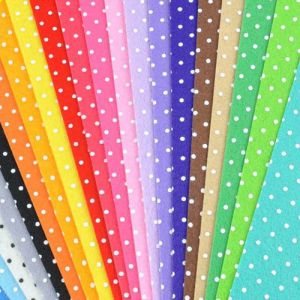 Nonwoven printed dots